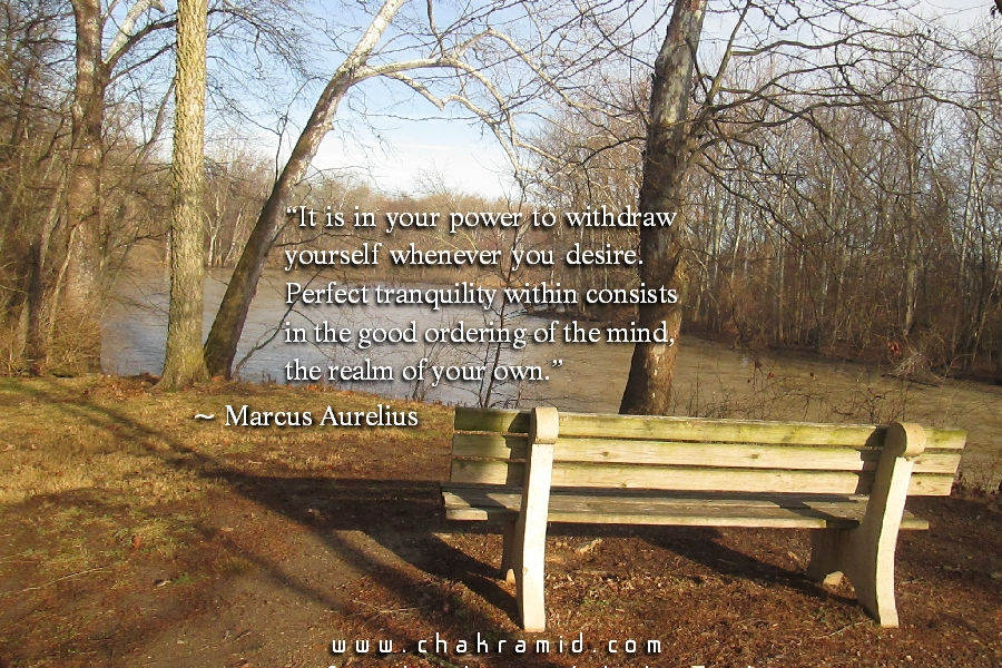 Tranquility Quote by Marcus Aurelius
